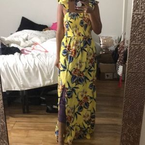 Band of Gypsies Dresses - 🌟 BAND OF GYPSIES YELLOW FLORAL MAXI (NWOT)